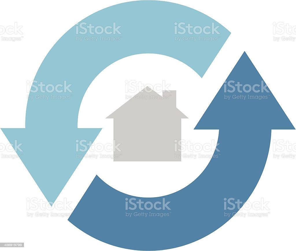 House 360 vector art illustration