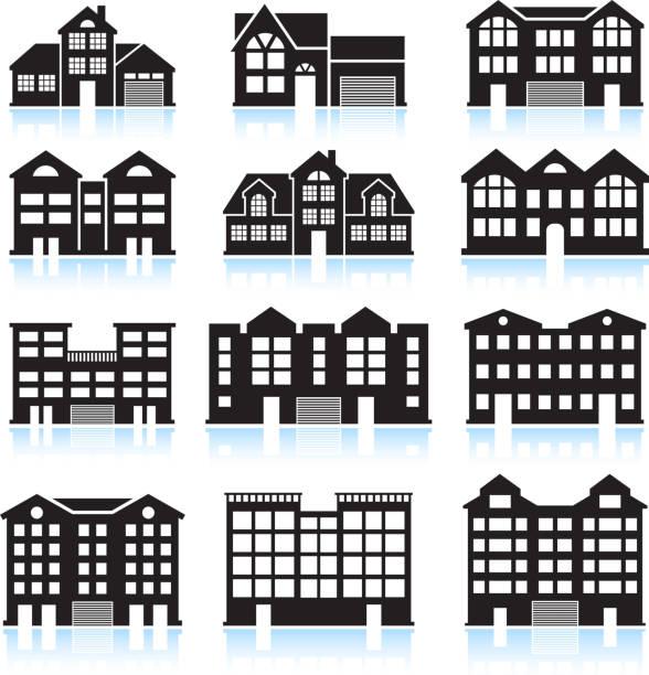 Apartment Complex Clip Art, Vector Images & Illustrations ...