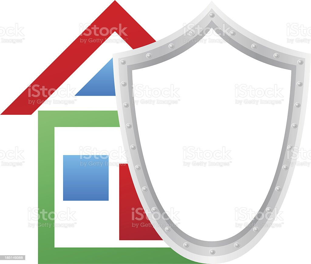 house and shield concept vector illustration royalty-free stock vector art