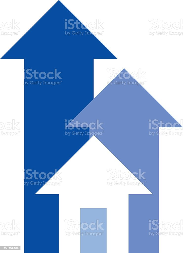 House Arrows Icon vector art illustration
