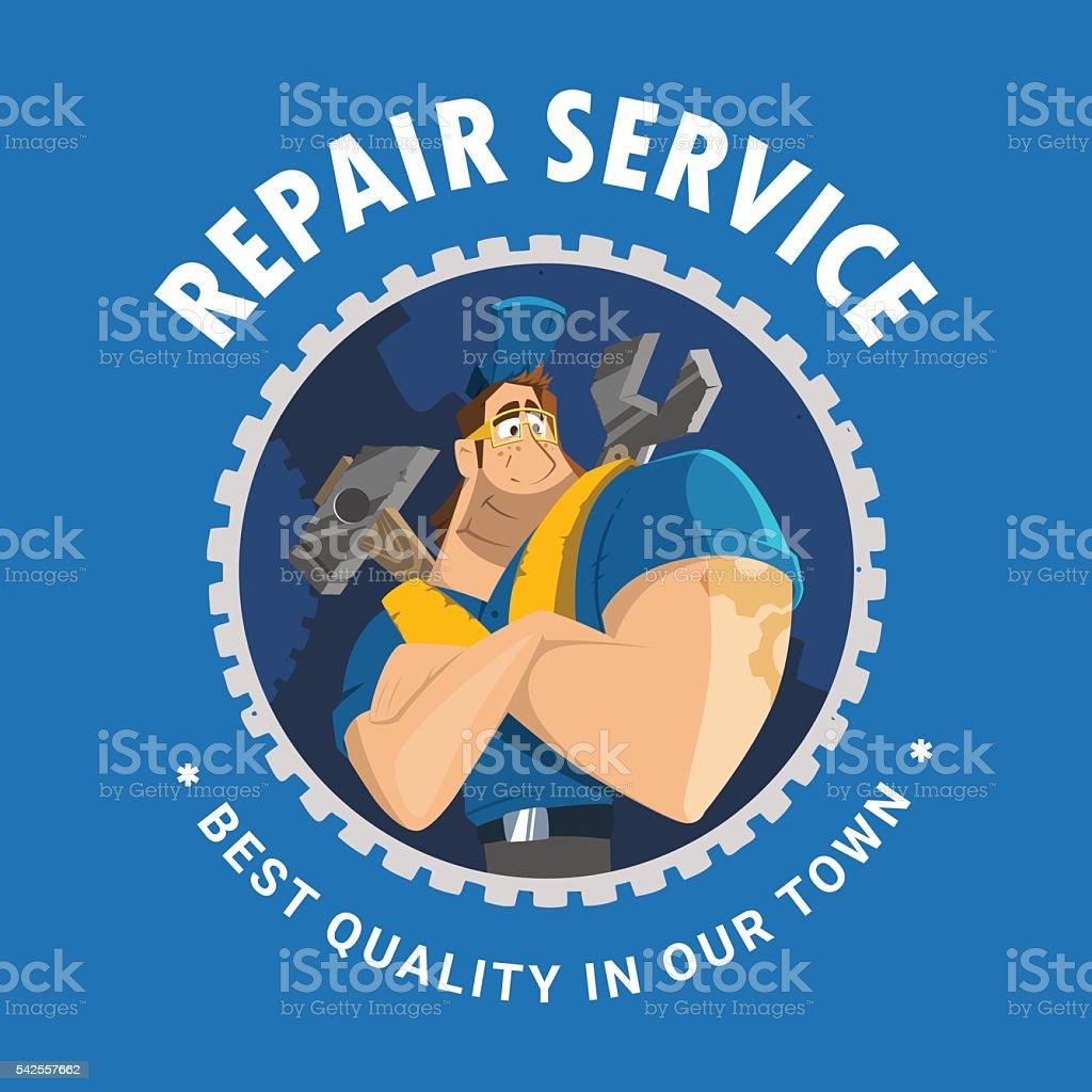 House auto car repair service tool shop store logo design vector art illustration