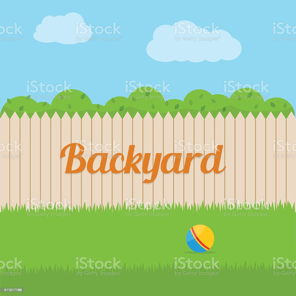 House backyard. vector art illustration