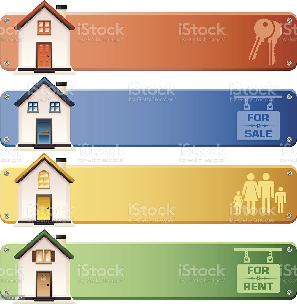 House Banners vector art illustration