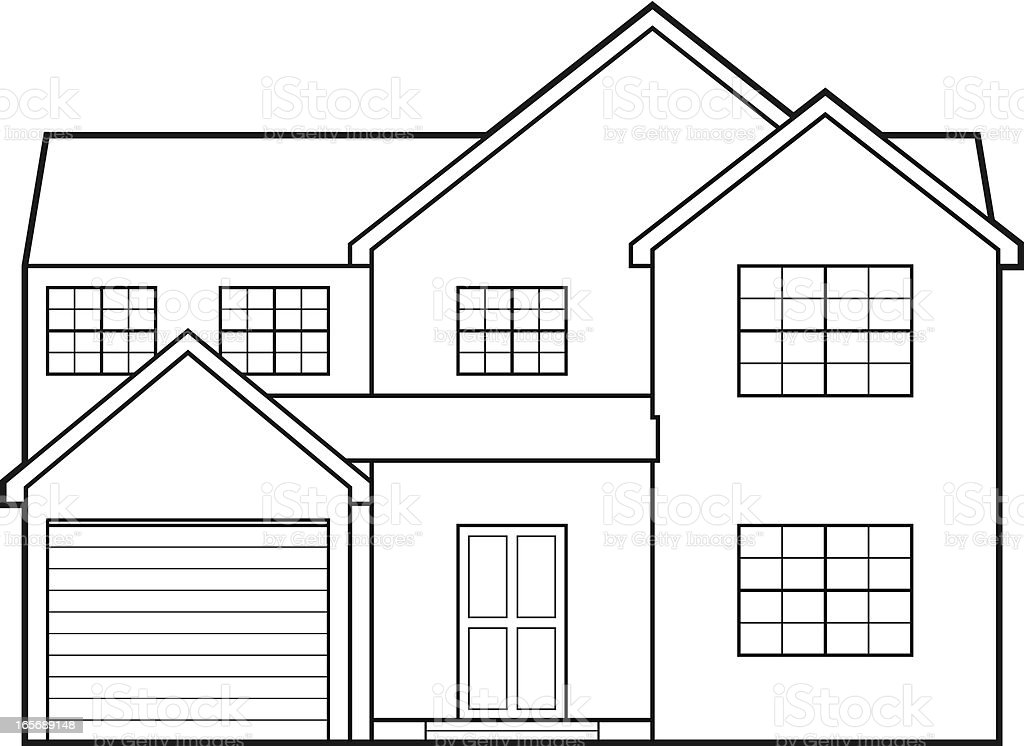House Blueprint royalty-free stock vector art