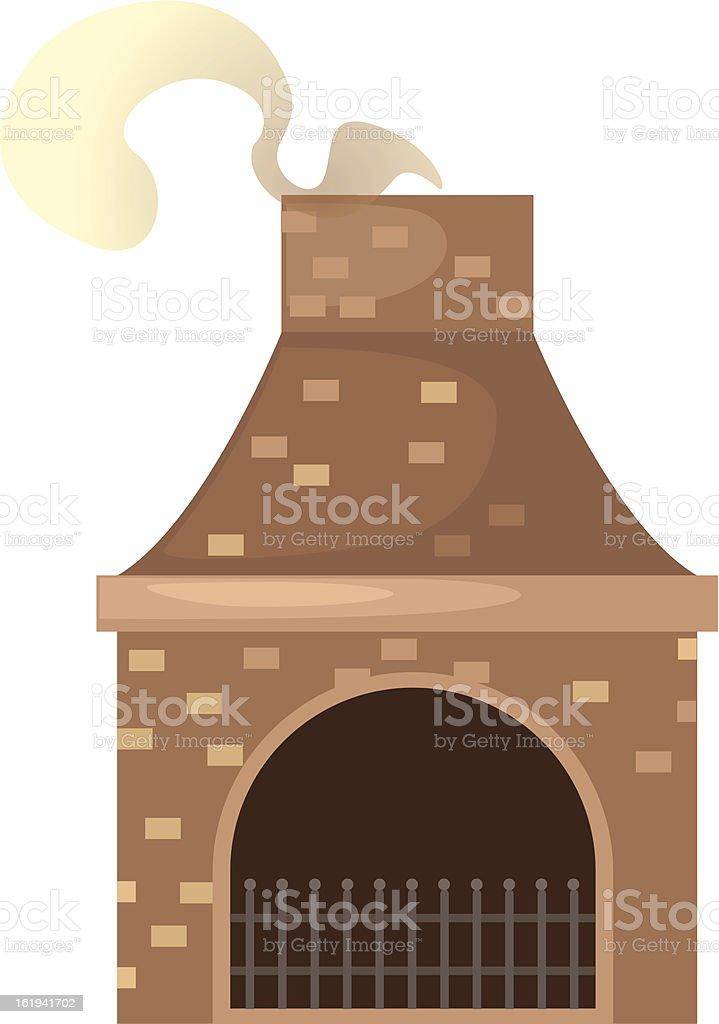 house brick chimney royalty-free stock vector art