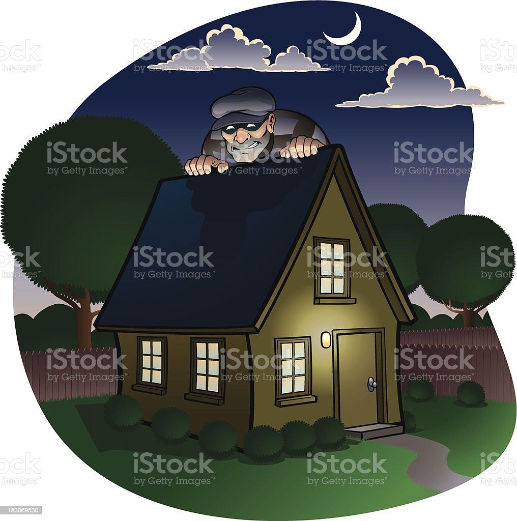 House Burglar vector art illustration