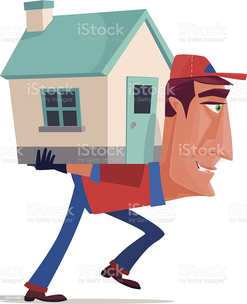 house carrier royalty-free stock vector art