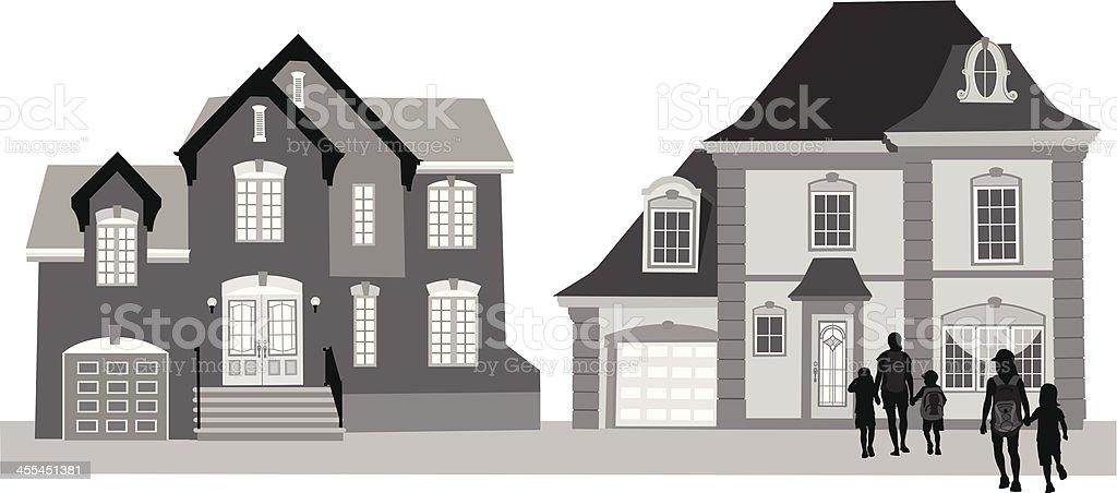 House Community royalty-free stock vector art