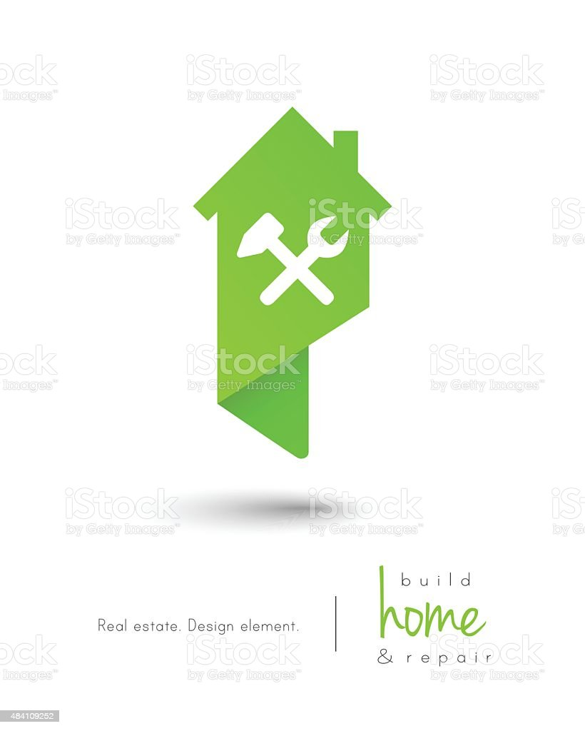 House concept with building and repair tools vector art illustration