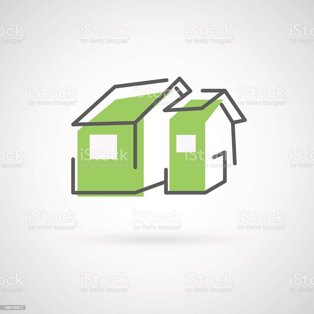 House design logo vector art illustration