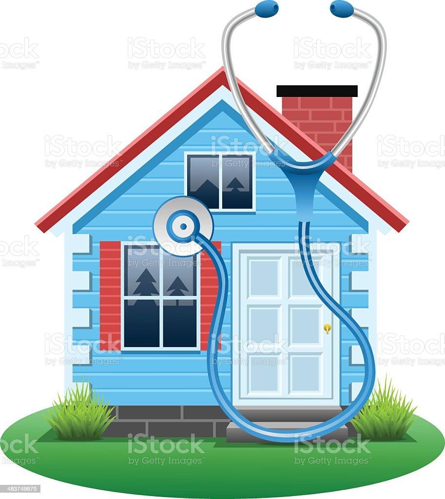 House Diagnostics vector art illustration