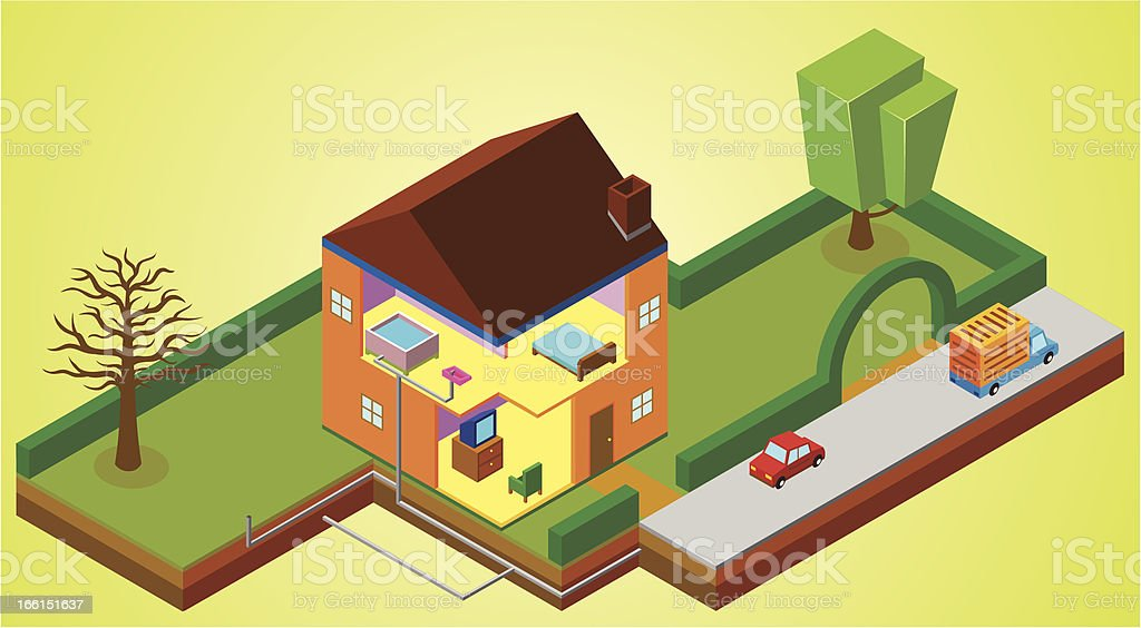 house environment royalty-free stock vector art