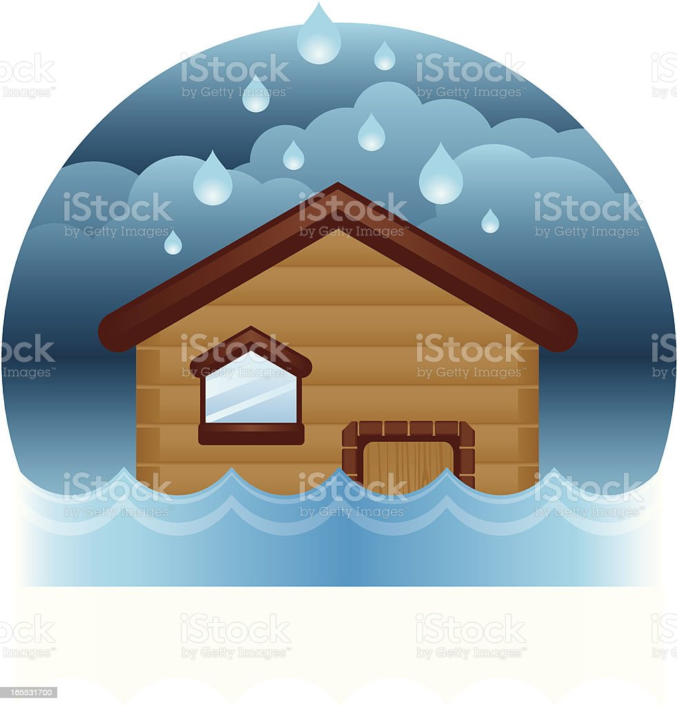 House Flood royalty-free stock vector art