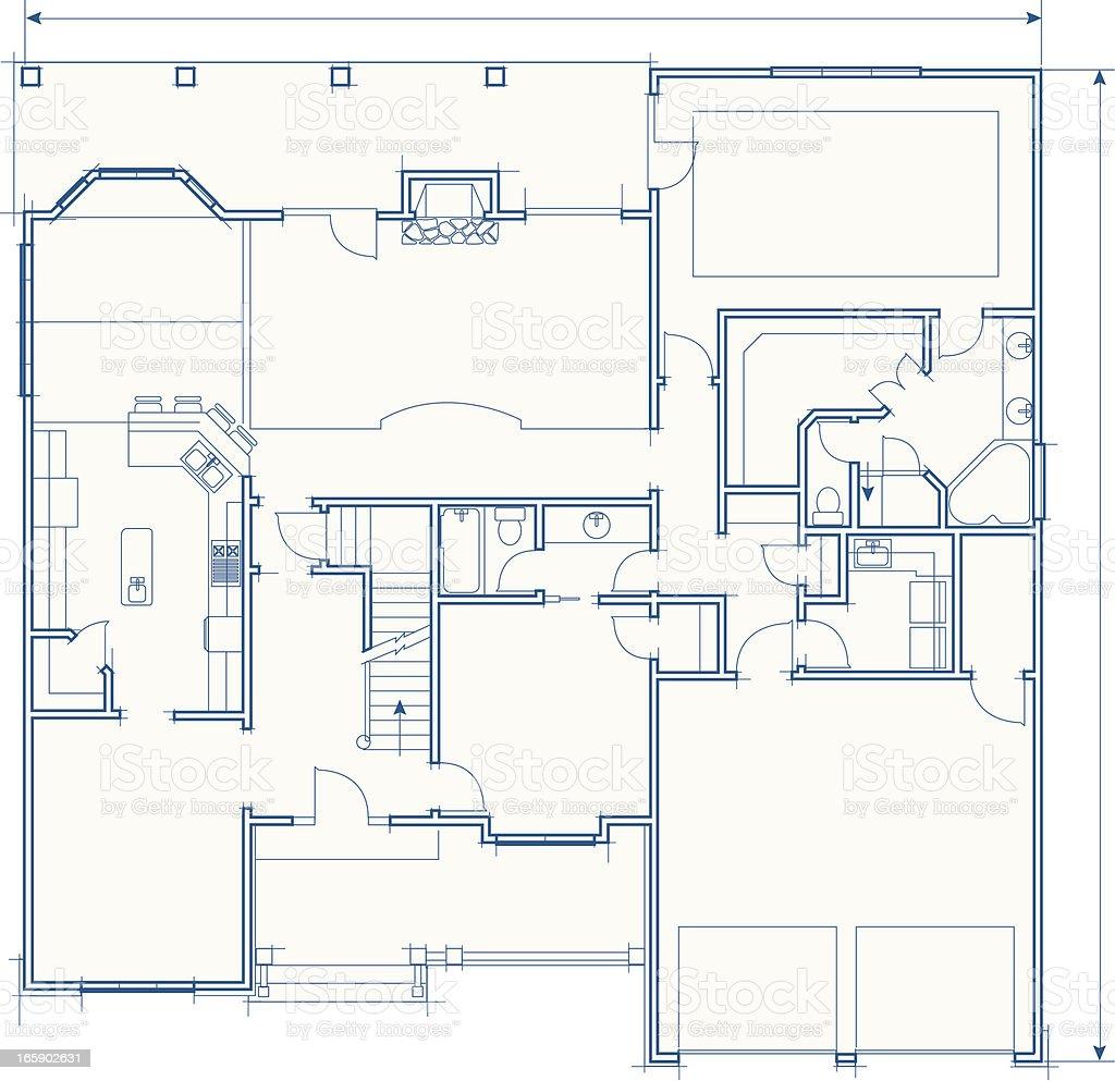 House Floorplan royalty-free stock vector art