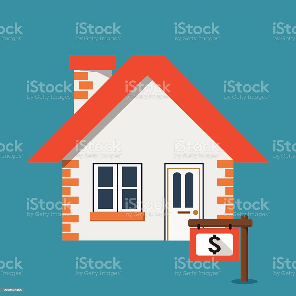 House for Sale Icon vector art illustration