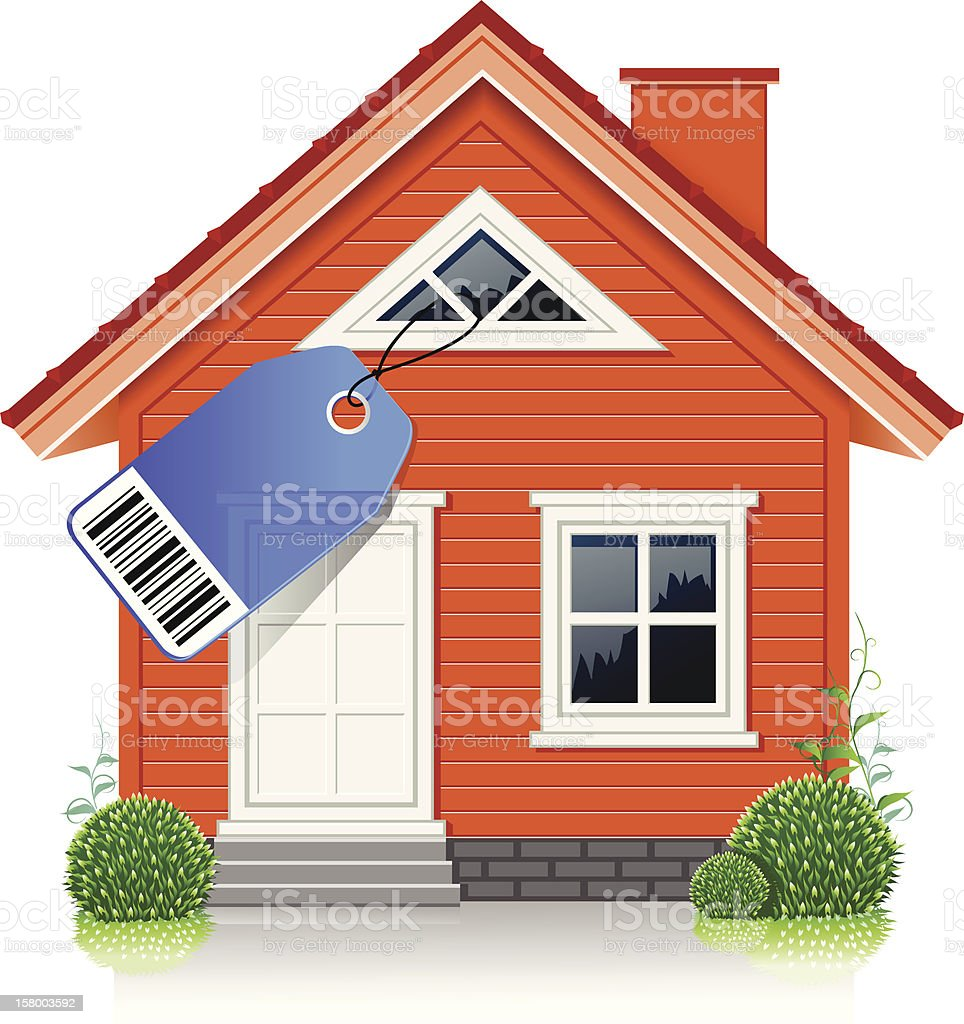 House For Sale royalty-free stock vector art