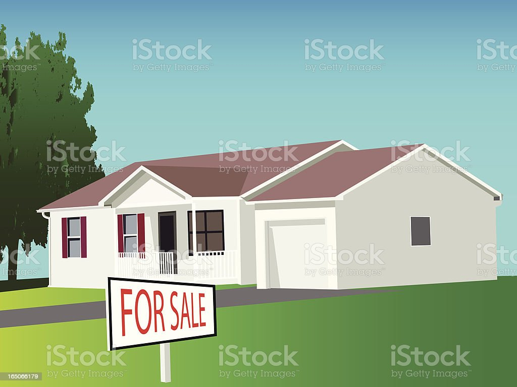 House for Sale - VECTOR royalty-free stock vector art