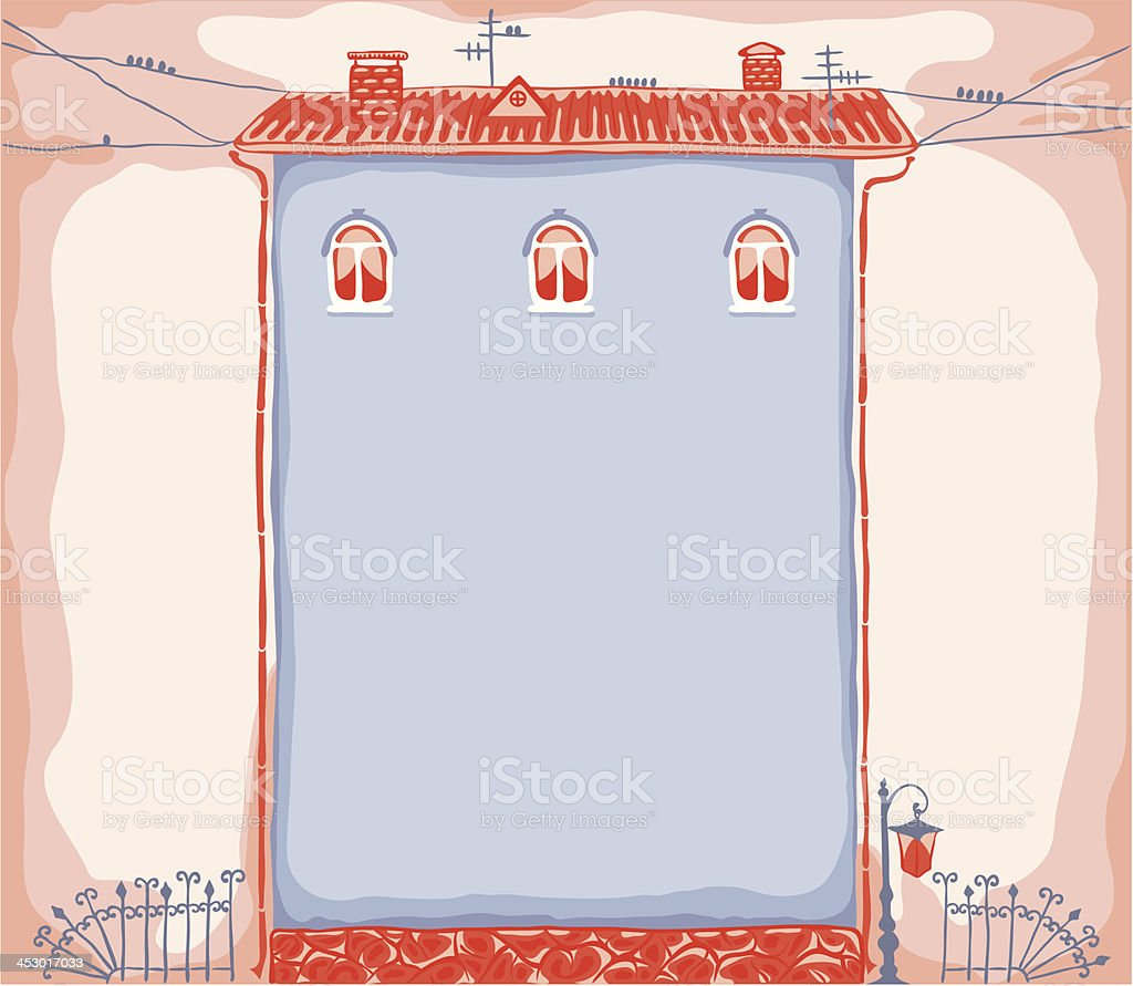 House frame royalty-free stock vector art
