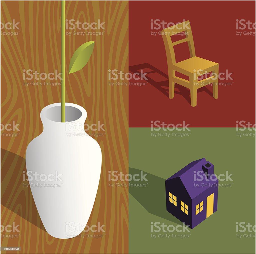 house furnishings royalty-free stock vector art