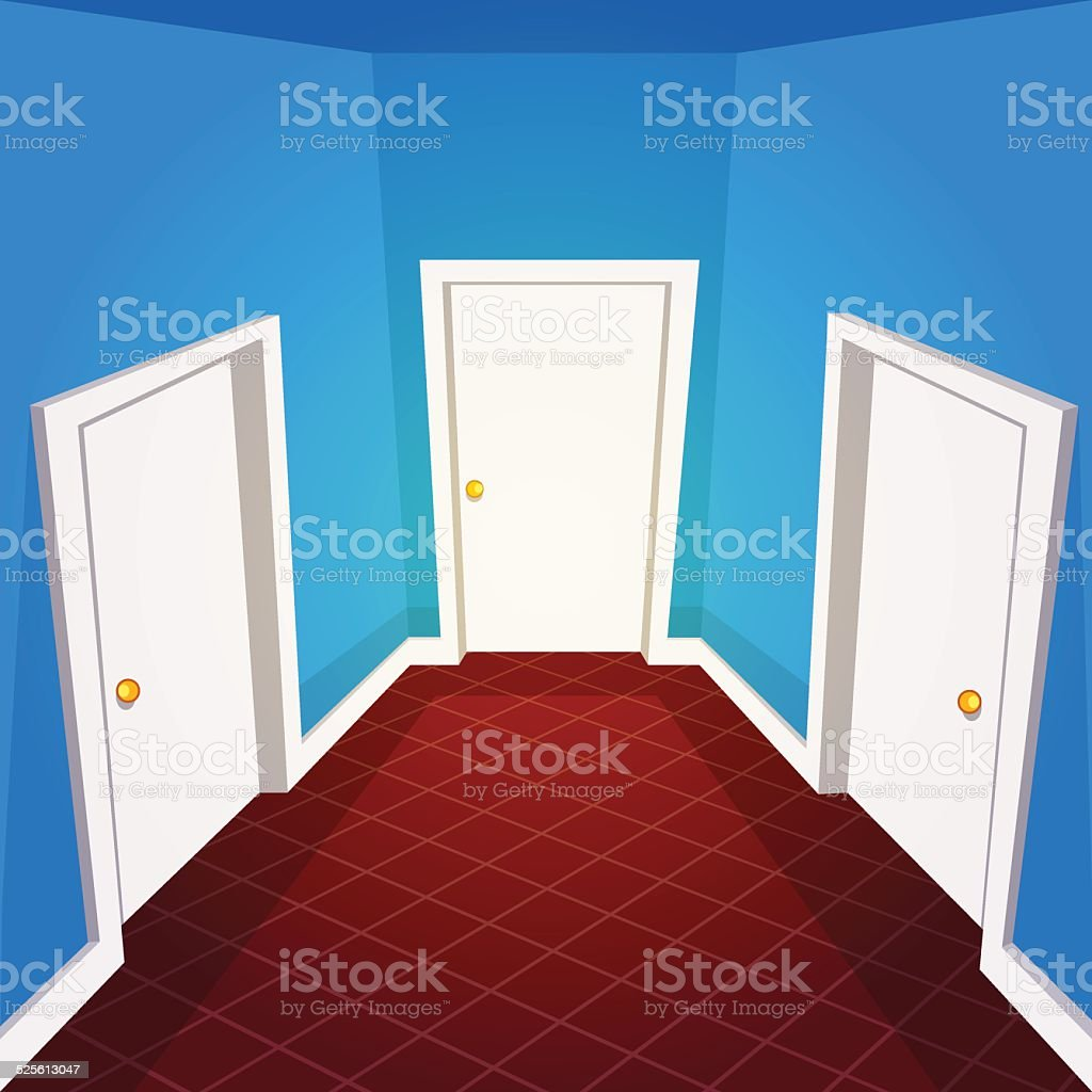 House Hallway vector art illustration