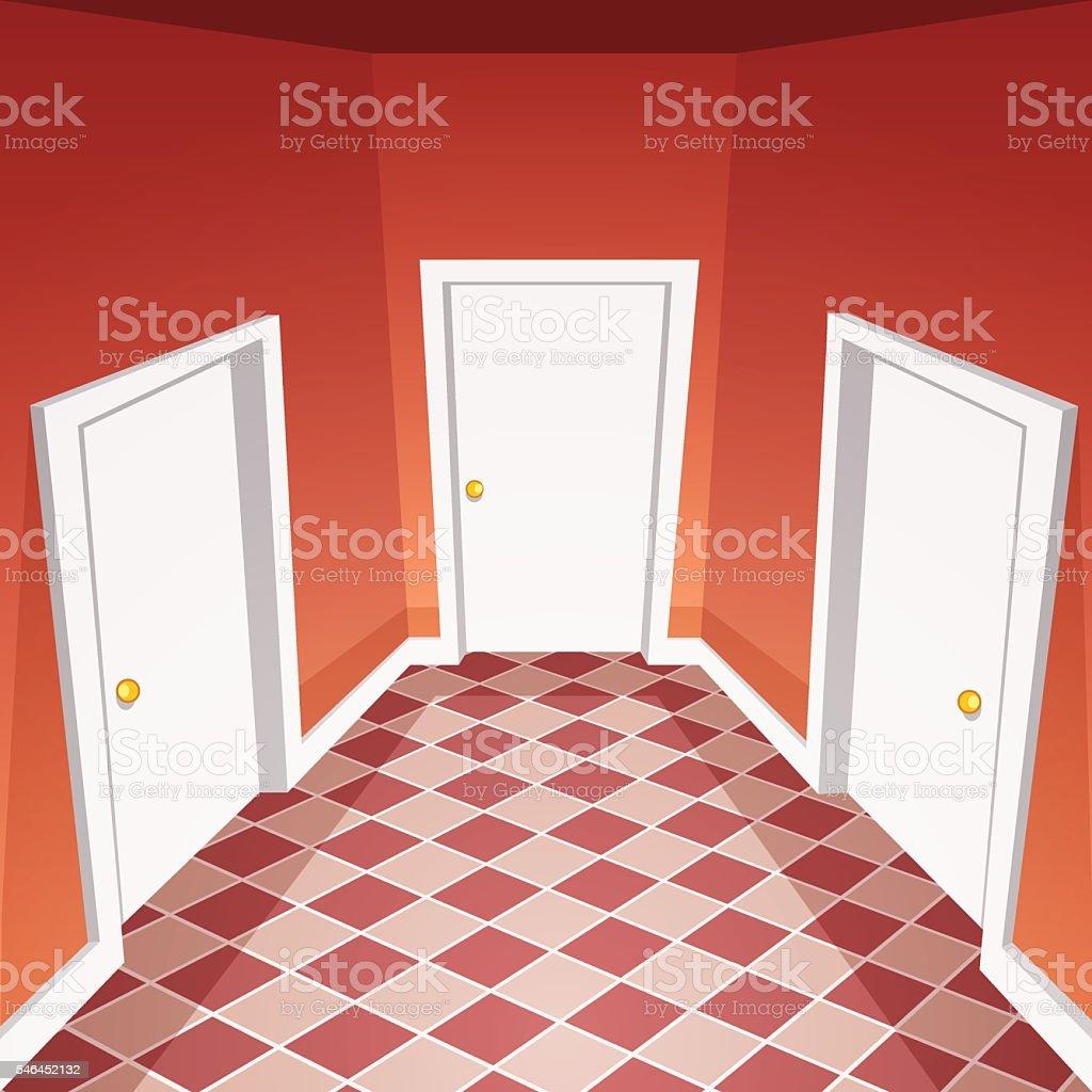 House Hallway vector art illustration