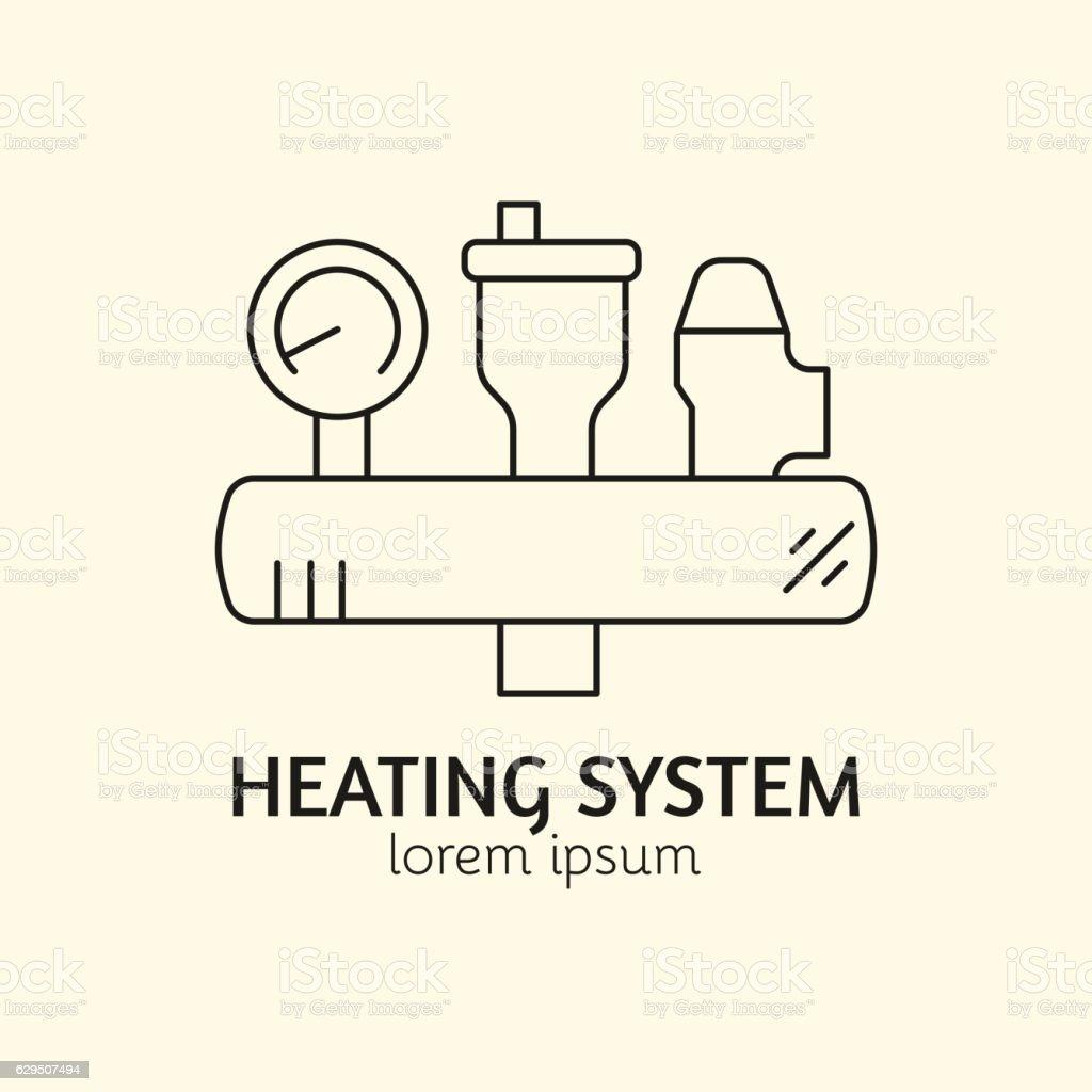 House Heating Logo Template vector art illustration