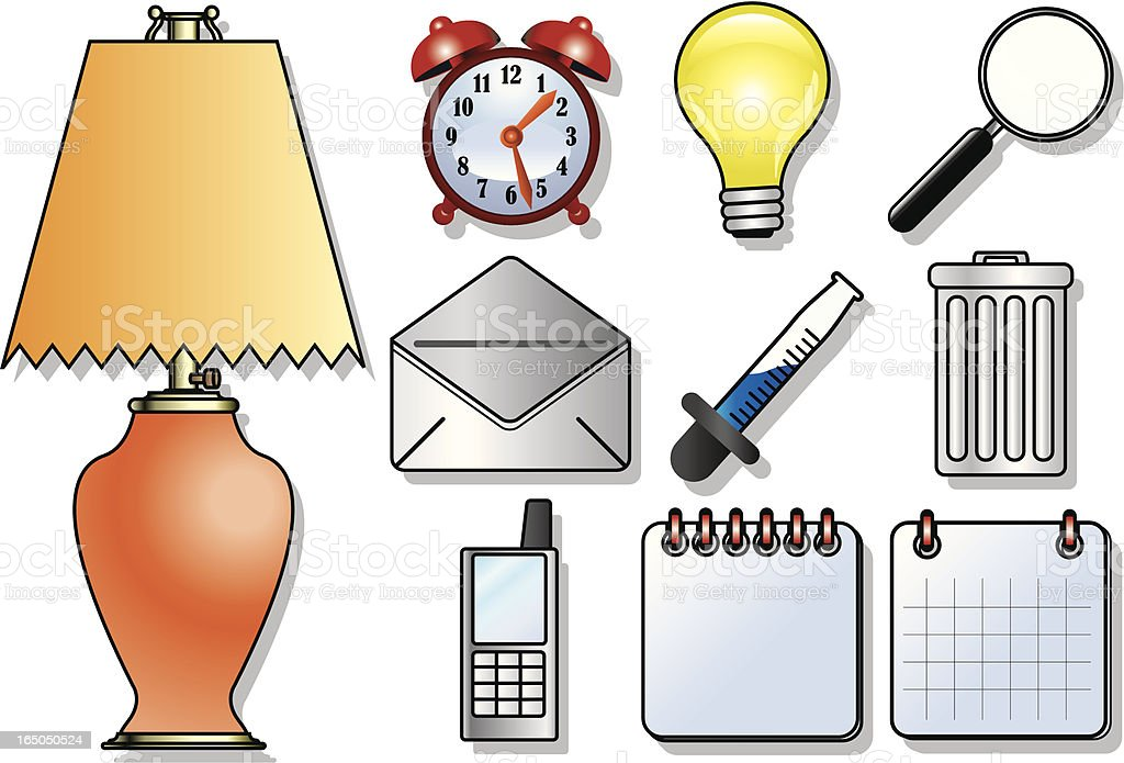 House Hold Items royalty-free stock vector art