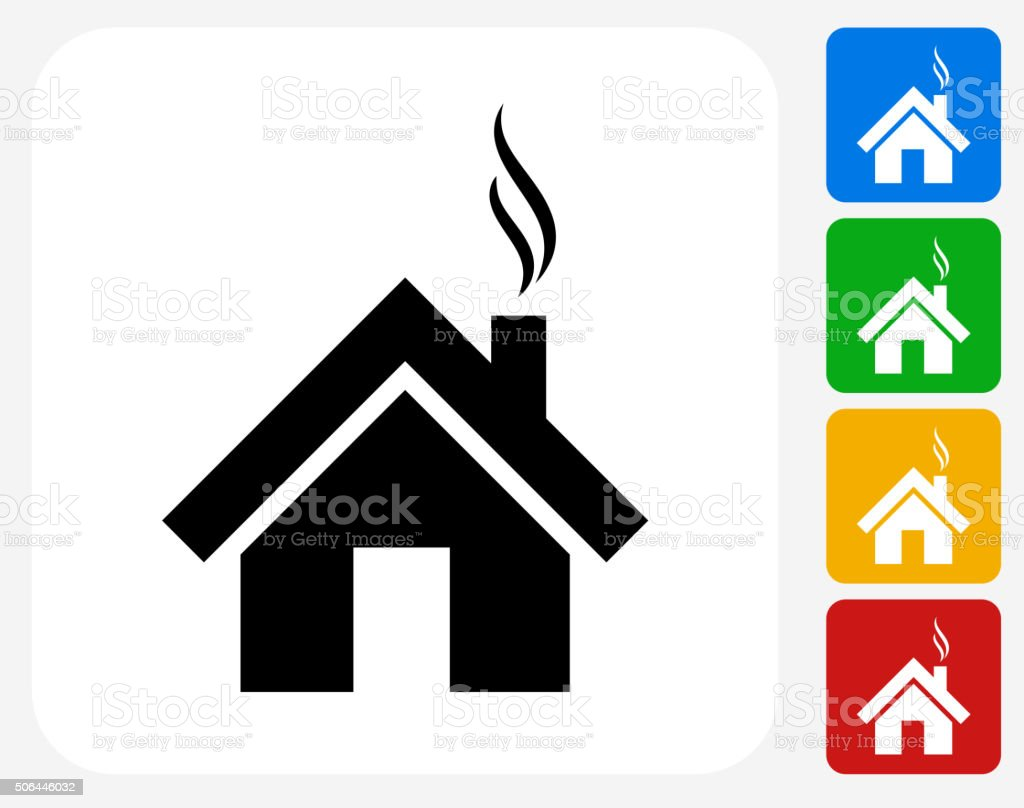 House Icon Flat Graphic Design vector art illustration