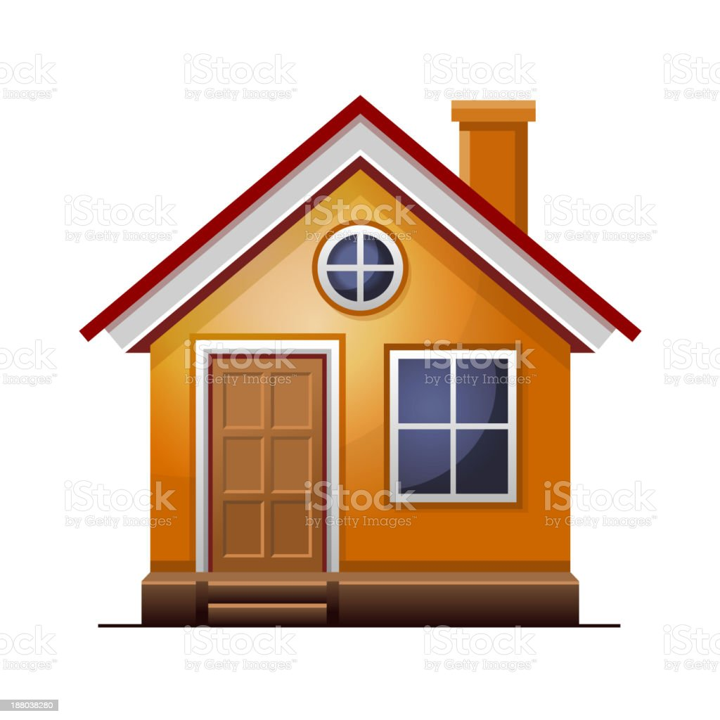 House icon isolated on white background royalty-free stock vector art