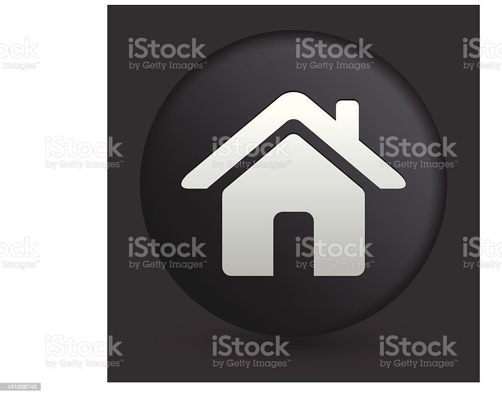 House Icon on Round Black Button Collection royalty-free stock vector art