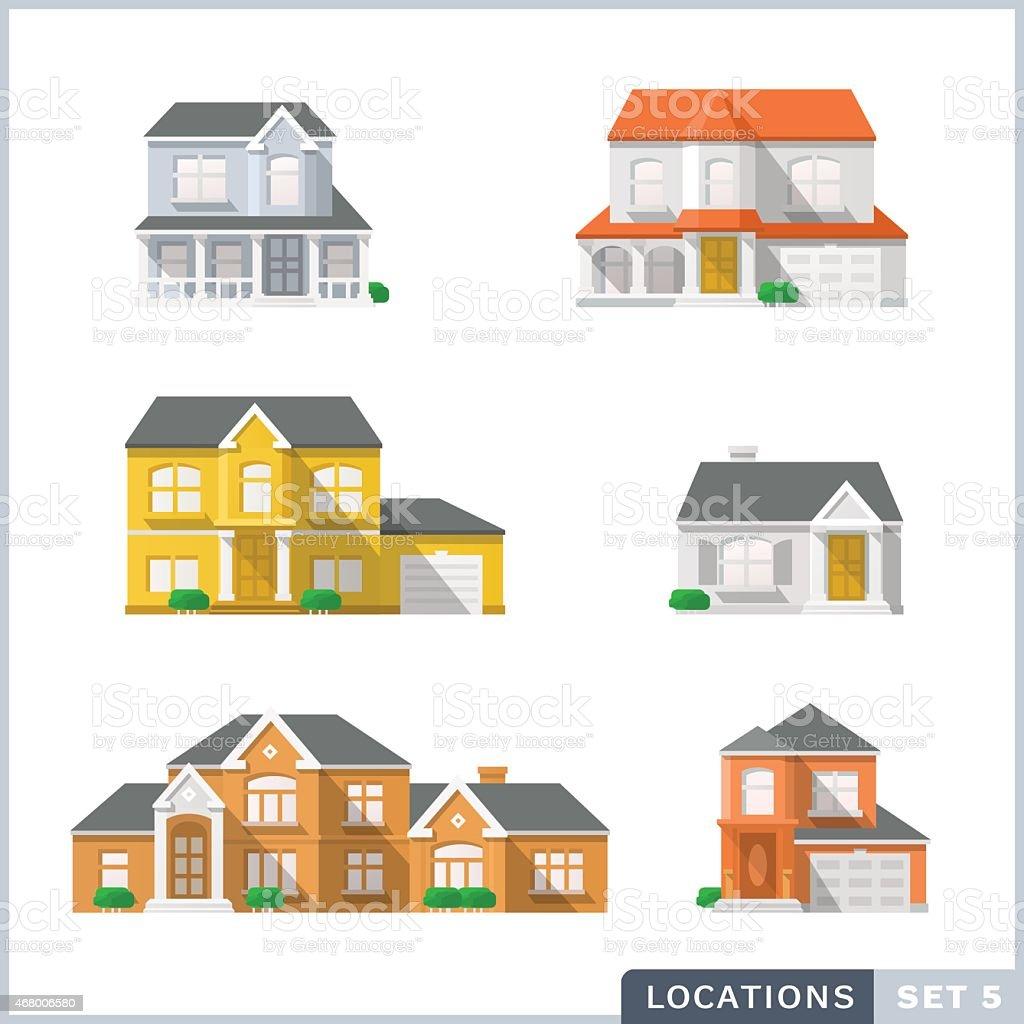 House icon set 1. vector art illustration