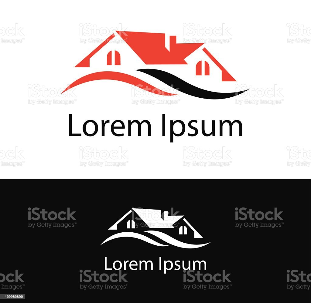 House icon suitable for realestate and construction business vector art illustration