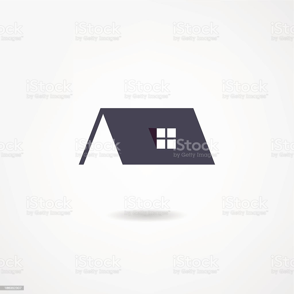 house icon vector art illustration