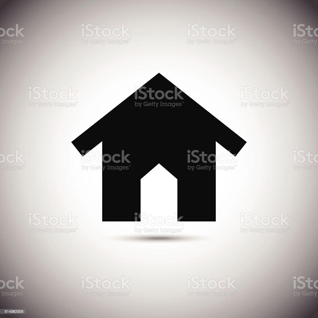Icône de la maison.  Illustration vectorielle stock vecteur libres de droits libre de droits