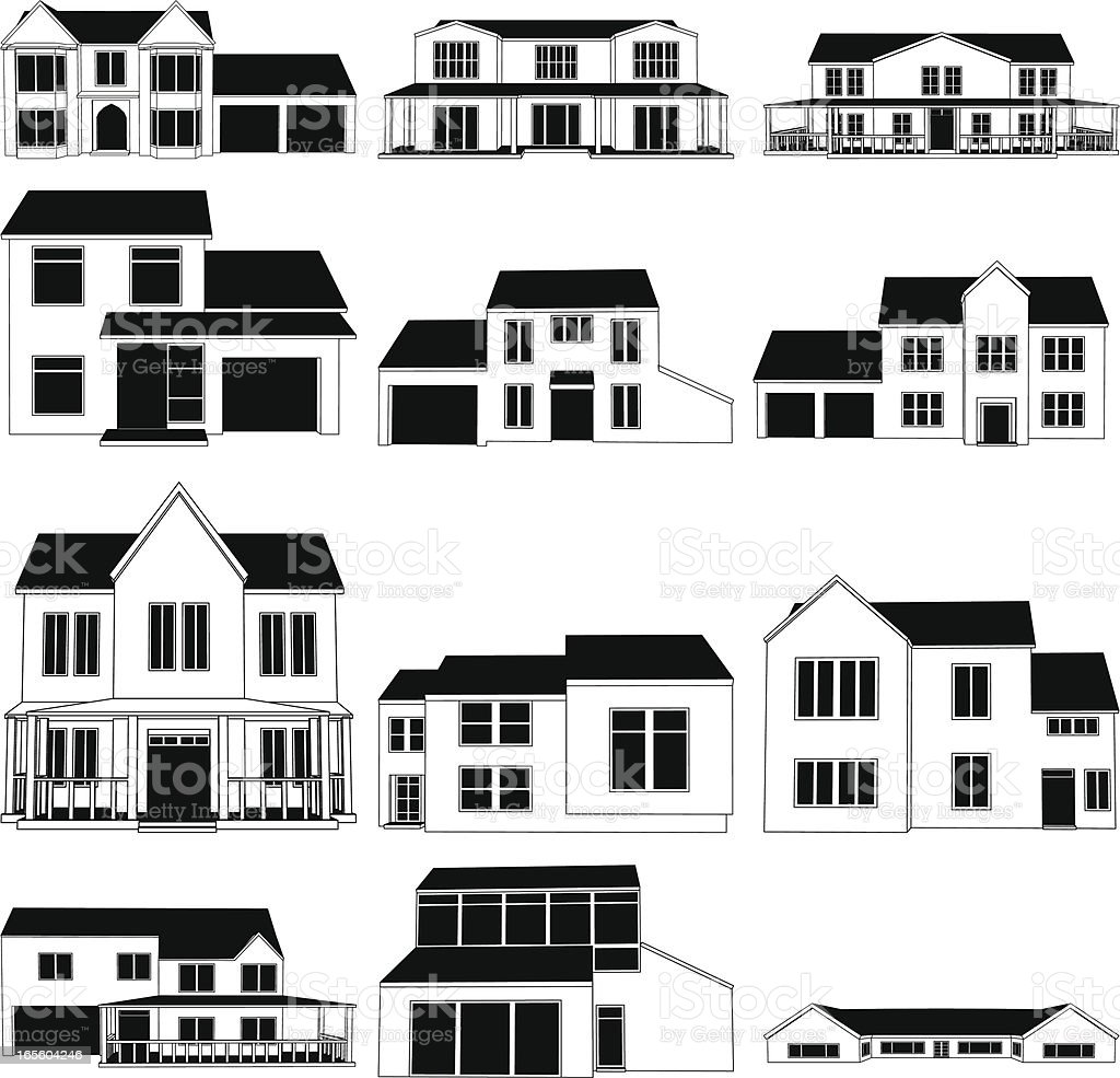 House Illustrations royalty-free stock vector art