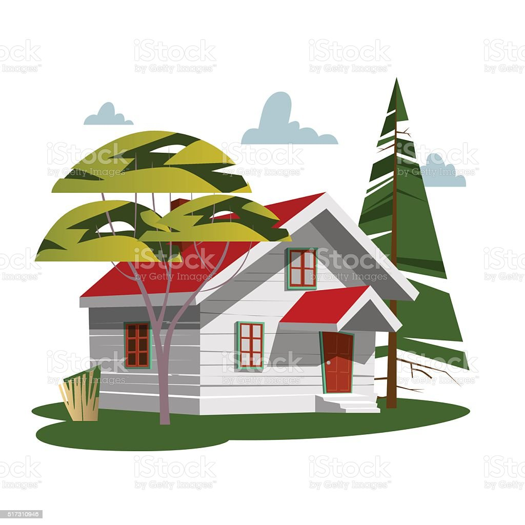 House in nature royalty-free stock vector art