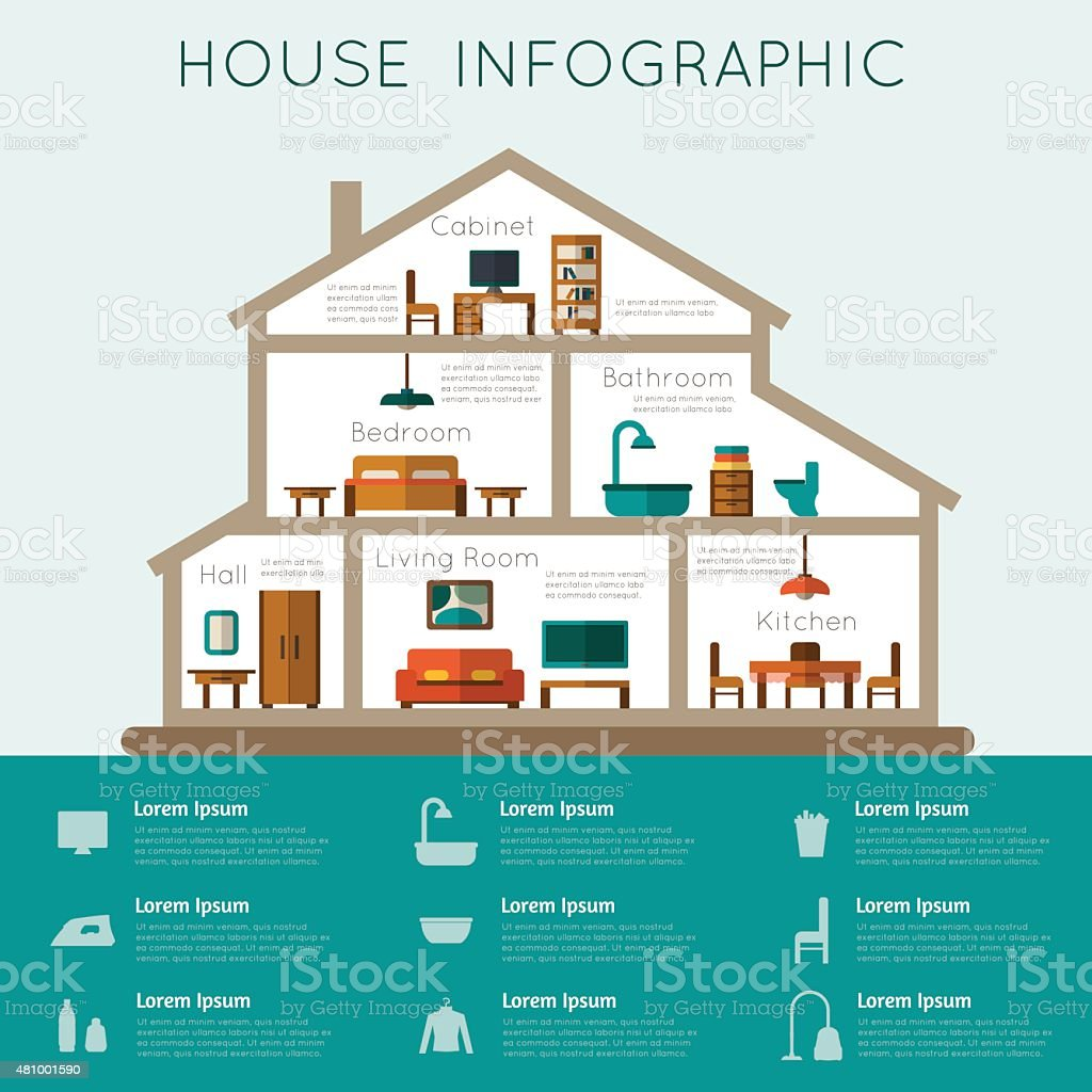 House infographic. vector art illustration