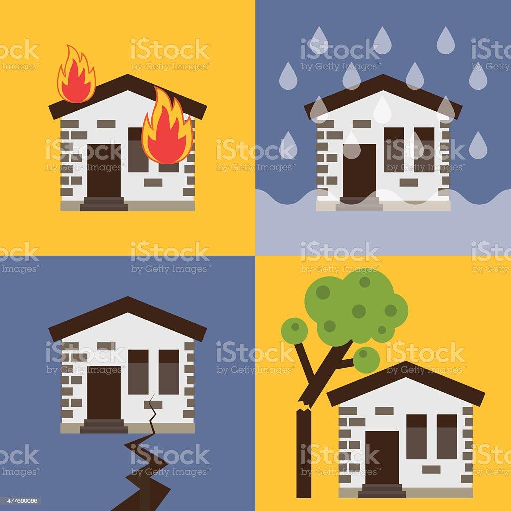 House insurance vector illustration vector art illustration