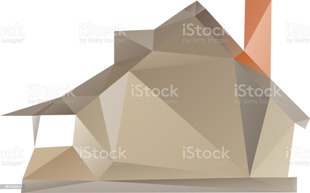 House isolated on a white backgrounds royalty-free stock vector art