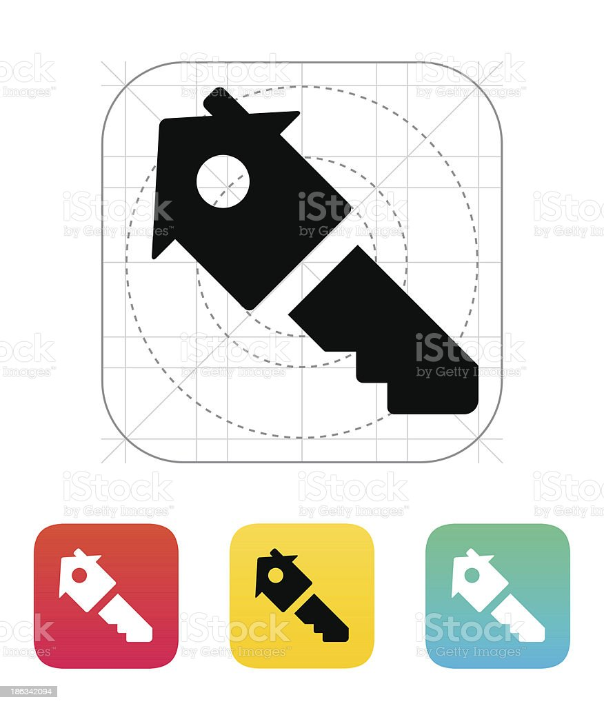House key icon. royalty-free stock vector art