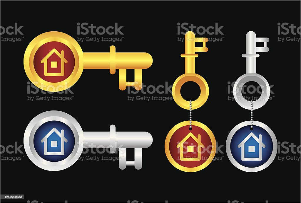 House Key royalty-free stock vector art