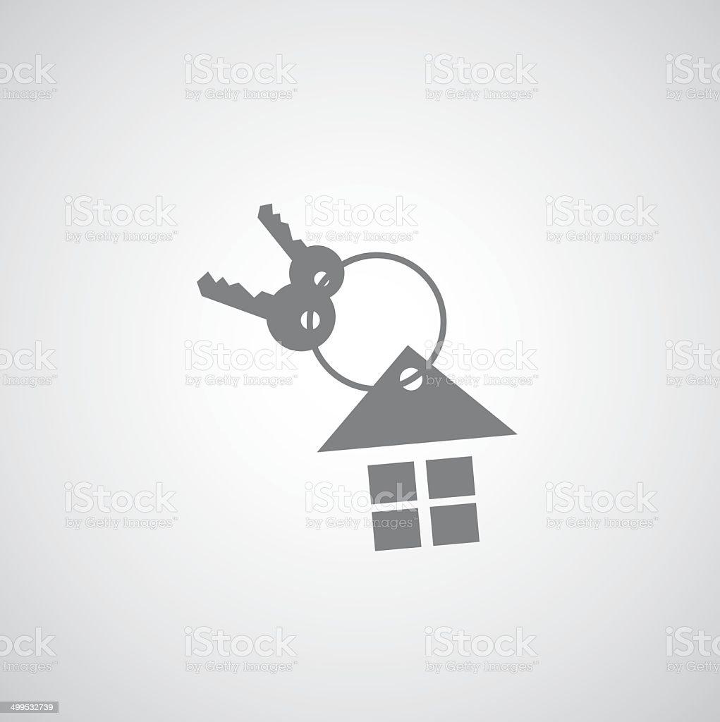 house keychain icon vector art illustration