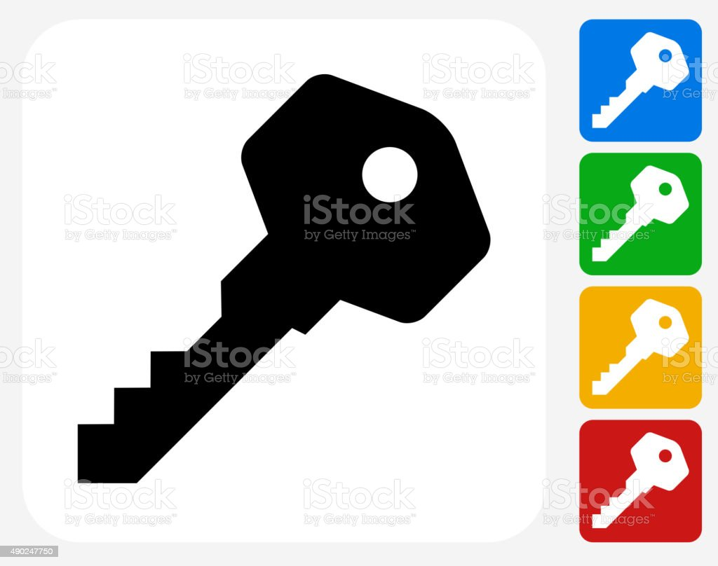 House Keys Icon Flat Graphic Design vector art illustration