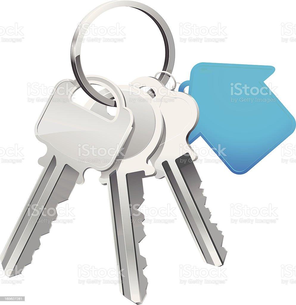 House Keys vector art illustration