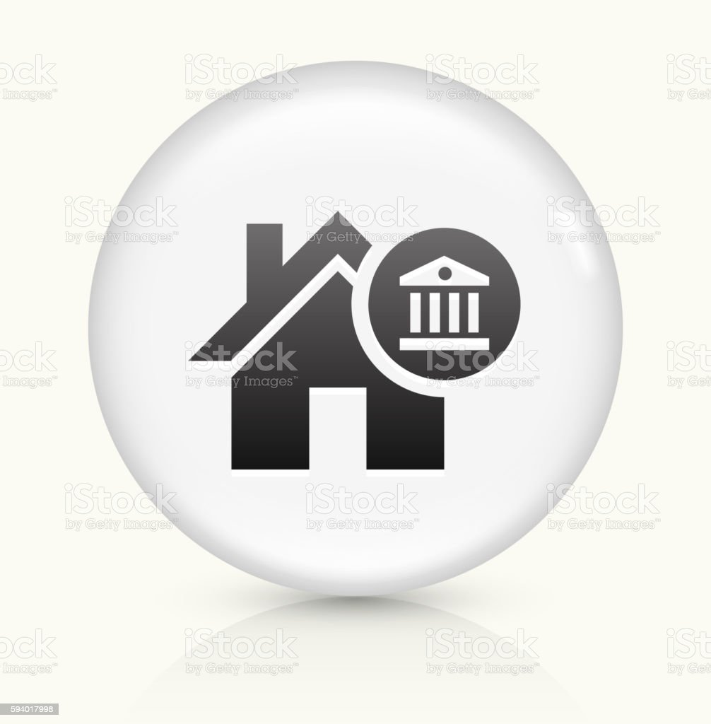 House Laws icon on white round vector button vector art illustration