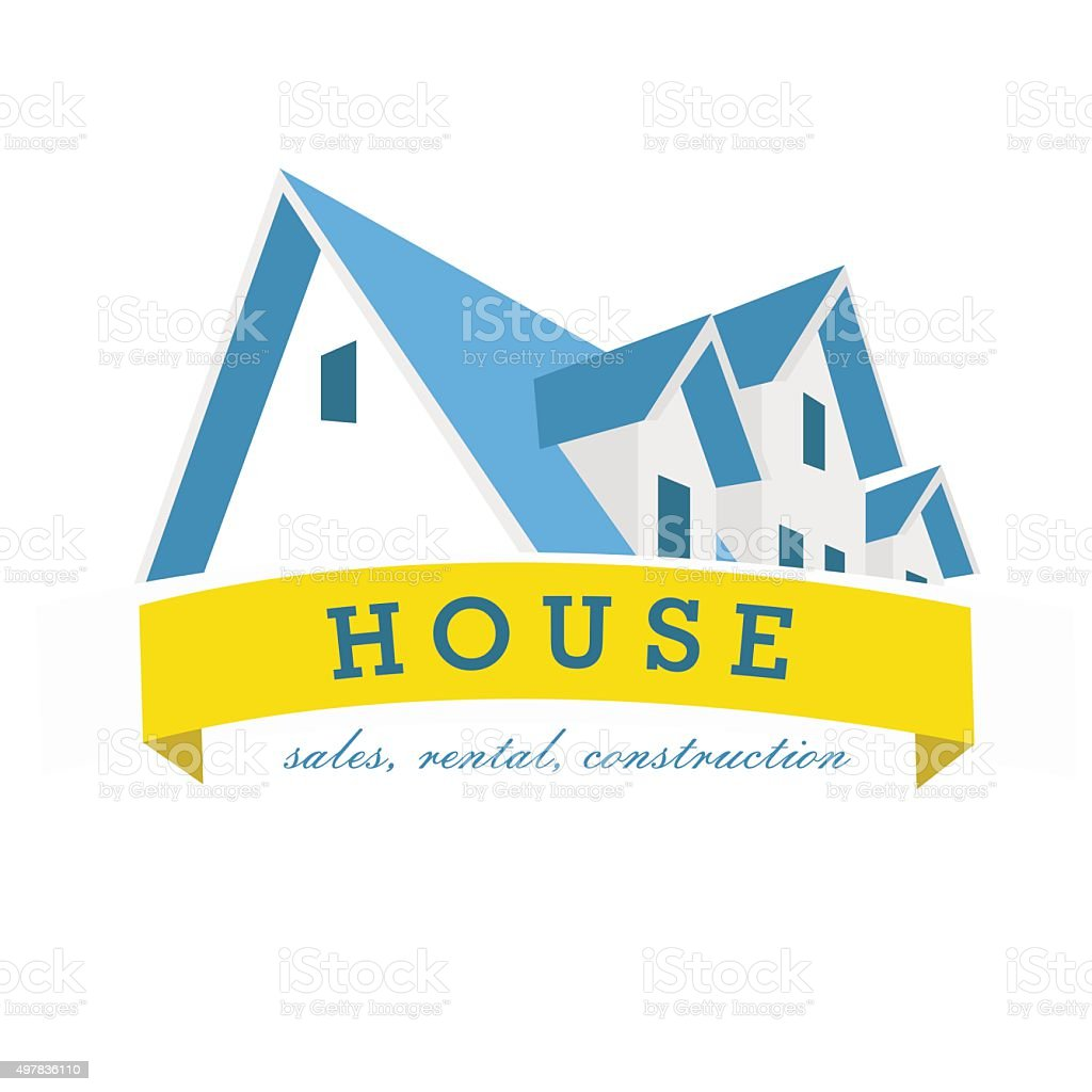 House logo design template. Realty theme icon. Building vector silhouette. vector art illustration