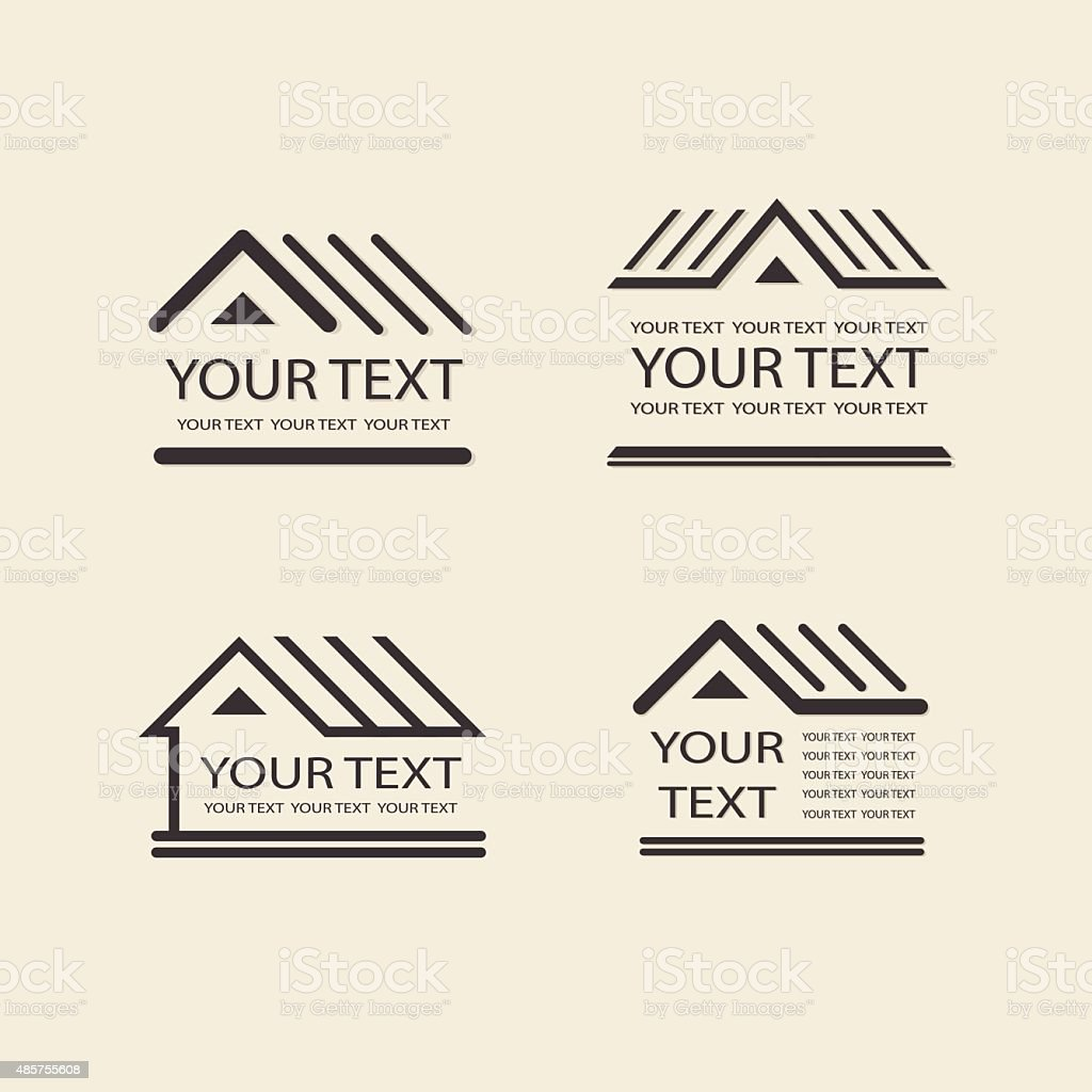 House logo. Template vector property. Icon for your design vector art illustration