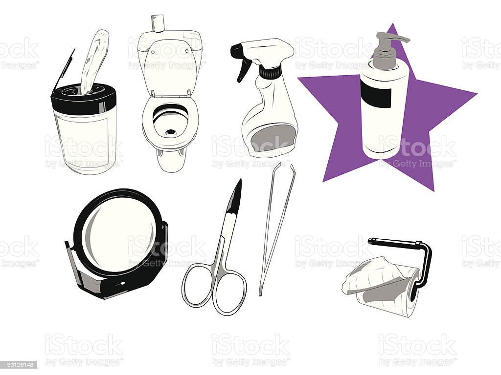 House objects royalty-free stock vector art