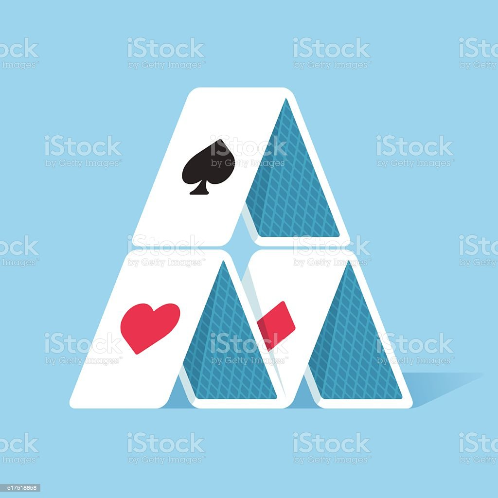 House of cards vector art illustration