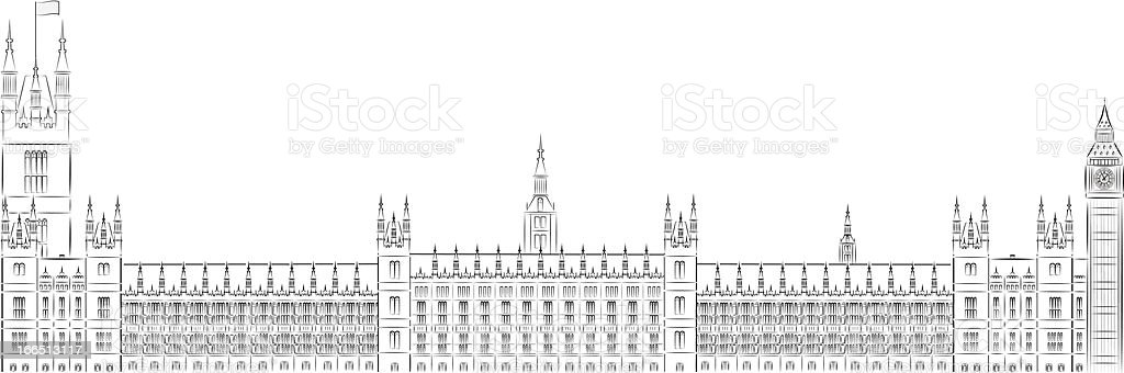 House of parliament, Westminster vector illustration royalty-free stock vector art